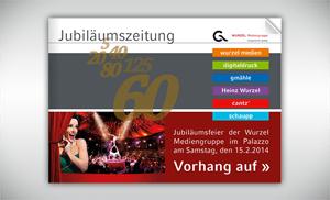 Wurzel Mediengruppe Jubiläumszeitung